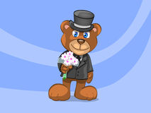 Urso do noivo Imagens de Stock Royalty Free