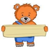 Urso do personagem de banda desenhada Foto de Stock