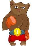 Urso do personagem de banda desenhada Fotografia de Stock