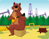 Urso do russo ilustração do vetor
