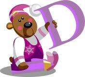 Urso do sorriso com letra D Imagens de Stock