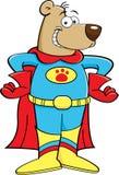 Urso do super-herói dos desenhos animados ilustração royalty free
