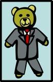 Urso do terno de vestido formal ilustração stock