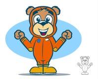 Urso do terno do voo Fotografia de Stock