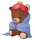 Urso doente da peluche Imagem de Stock