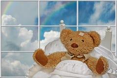 Urso doente da peluche ilustração royalty free