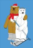 Urso dois Fotos de Stock