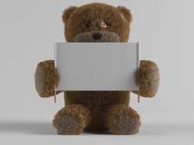 Urso e bandeira de peluche imagens de stock royalty free