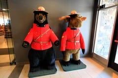 Urso e cervos dos desenhos animados Fotos de Stock