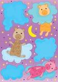 Urso e Cloud_eps Fotos de Stock