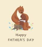 Urso e filhote de urso Fotografia de Stock