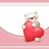 Urso e o heart2 grande Imagens de Stock