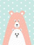 urso e pouco urso Fotografia de Stock