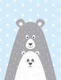 urso e pouco urso Fotos de Stock