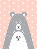 urso e pouco urso Fotografia de Stock Royalty Free
