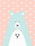 urso e pouco urso Foto de Stock