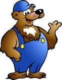 Urso em macacões azuis Imagem de Stock