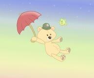 Urso enchido vôo Fotografia de Stock