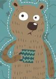 Urso engraçado Art Pastel ilustração stock