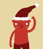 Urso engraçado de Santa ilustração stock
