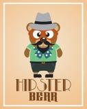 Urso engraçado do moderno ilustração stock