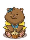 Urso feliz da menina Imagem de Stock Royalty Free