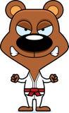 Urso irritado do karaté dos desenhos animados Imagens de Stock Royalty Free
