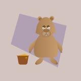 Urso irritado grande Fotografia de Stock Royalty Free