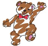 Urso marrom alegre Foto de Stock