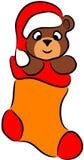 Urso na peúga do Natal Imagens de Stock Royalty Free