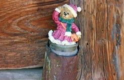 Urso no banco velho Fotos de Stock