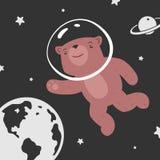 Urso no espaço Fotografia de Stock
