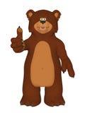 Urso O'key dos desenhos animados Foto de Stock