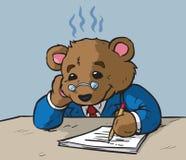 Urso ocupado Imagem de Stock Royalty Free