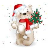 Urso Papai Noel Fotografia de Stock Royalty Free