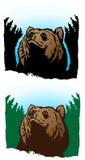 Urso pensativo ilustração royalty free
