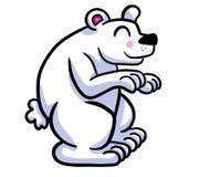 Urso polar adorável ilustração royalty free