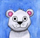 Urso polar da aquarela engraçada ilustração do vetor