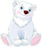 Urso polar de assento ilustração royalty free