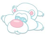 Urso polar de encontro Fotografia de Stock