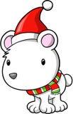 Urso polar do feriado do Natal ilustração do vetor