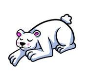 Urso polar do sono adorável ilustração royalty free
