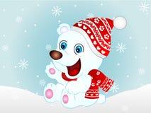 Urso polar do vetor dos desenhos animados ilustração do vetor