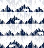Urso polar no iceberg ilustração do vetor