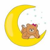 Urso que encontra-se na lua Foto de Stock