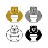 Urso que guarda a caixa ilustração royalty free