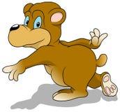Urso running ilustração stock
