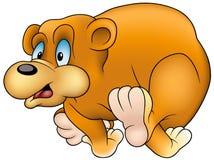 Urso Running ilustração do vetor
