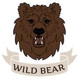 Urso selvagem do logotipo Fotos de Stock