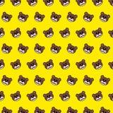 Urso - teste padrão 24 do emoji ilustração do vetor